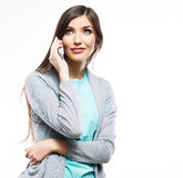 Portrait of young woman casual portrait positive v Royalty Free Stock Images