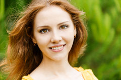 Portrait of young woman close up Royalty Free Stock Photo
