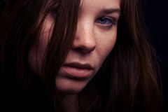 Portrait of young woman closeup Stock Image
