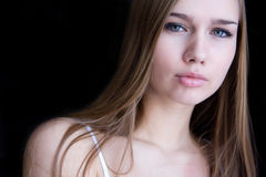 Portrait of young woman closeup Royalty Free Stock Images