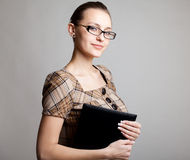 Portrait of a young woman, college student royalty free stock images