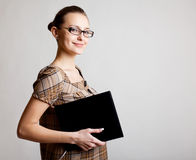 Portrait of a young woman, college student royalty free stock photos