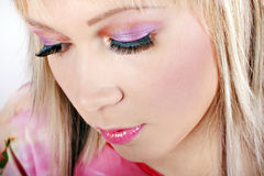 Portrait of young woman with creative makeup Stock Photo