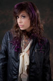 Purple and Leather Royalty Free Stock Image