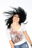 Portrait of young woman dancing Stock Photography