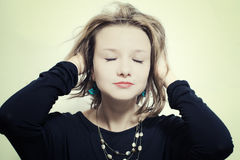 Portrait of a young woman dancing Royalty Free Stock Image