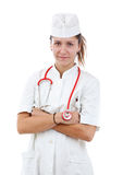 Portrait of young woman doctor Stock Image