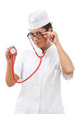 Portrait of a young woman doctor Royalty Free Stock Images