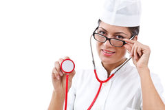 Portrait of a young woman doctor Stock Photos