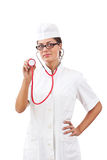Portrait of a young woman doctor Stock Image