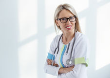 Portrait of young woman doctor Royalty Free Stock Image