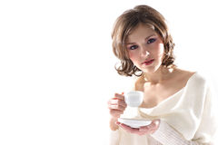 Portrait of a young woman drinking coffee Royalty Free Stock Image