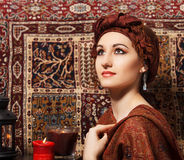 Portrait of a young woman in eastern style Royalty Free Stock Photography