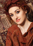 Portrait of a young woman in eastern style Stock Photo