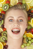 Portrait Of Young Woman Eating Chocolate royalty free stock image