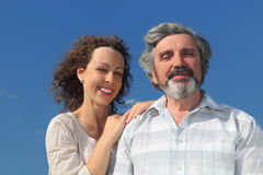 Portrait of young woman embracing her father Royalty Free Stock Photography