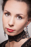 Portrait of young woman in evening makeup Royalty Free Stock Photography