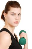 Portrait young woman exercising Stock Image