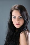 Portrait young woman face Royalty Free Stock Photography