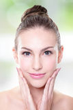 Portrait of young woman face Royalty Free Stock Photo