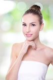 Portrait of young woman face Royalty Free Stock Images