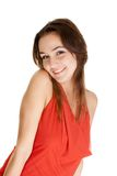 Portrait of a young woman flirting Stock Photo