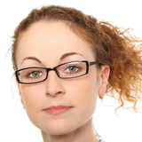 Portrait of young woman in glasses Stock Images