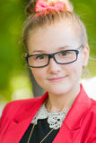 Portrait of a young woman in glasses Royalty Free Stock Images