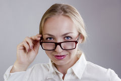 Portrait of a young woman in glasses Stock Image
