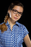 Portrait of young woman in glasses Royalty Free Stock Images