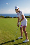 Portrait of young woman golfer Stock Photography