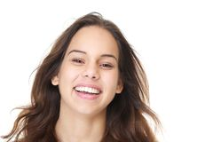 Portrait of a young woman with happy expression on face Royalty Free Stock Image