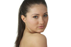 Portrait of young woman with health skin of face Royalty Free Stock Photos