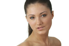 Portrait of young woman with health skin of face Royalty Free Stock Images