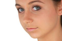 Portrait of young woman with health skin of face Royalty Free Stock Photo