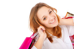 Portrait of an young woman holding Royalty Free Stock Photo