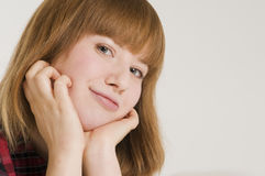 Portrait of young woman_horizontal Stock Images