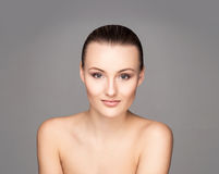 Portrait of a young woman inlight makeup Royalty Free Stock Photos