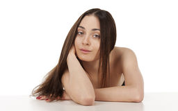 Portrait of a young woman. Stock Image
