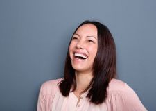Portrait of a young woman laughing Royalty Free Stock Photo
