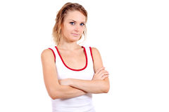 Portrait of young woman with little smile Royalty Free Stock Image