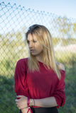 Portrait of the young woman looking away. Stock Photography