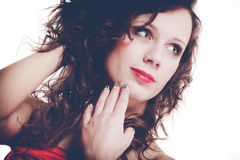 Portrait of young woman with make up Royalty Free Stock Photos