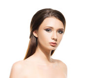 Portrait of a young woman in makeup Stock Images