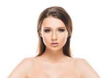 Portrait of a young woman in makeup Stock Image