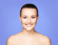 Portrait of a young woman in makeup Stock Photos