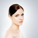 Portrait of a young woman in makeup Royalty Free Stock Images