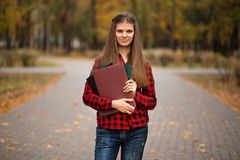 Portrait of young woman manager established cooperation with investors and government agencies. And implemented an anti-crisis program stock photography