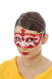 Portrait of a Young Woman with a Mask Stock Photos