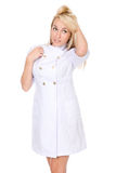 Portrait on young woman nurse / medical Royalty Free Stock Photos